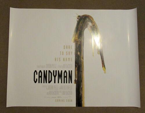 Candyman ORIGINAL UK quad poster 2021 Hook version Jordan Peele Tony Todd
