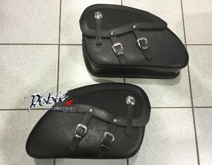 Deluxe Honda VT125C VT125 VT 125 Shadow Saddle Leather Panniers Pannier Bags
