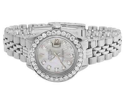 Ladies Stainless Steel 26MM Rolex Datejust Jubilee Bracelet Diamond Watch 2.5 Ct