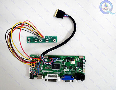 HDMI+DVI+VGA LCD Controller Board for 1600X900 B140RW02 V0 V.0 LED Panel NT68676