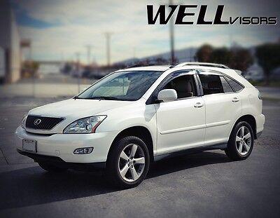 WellVisors For 04-09 Lexus RX330 RX350 RX400H BLACK TRIM Side Vent Window Visors