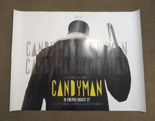 Candyman ORIGINAL UK quad poster 2021 Back version Jordan Peele Tony Todd