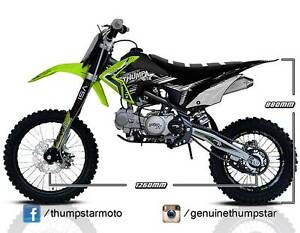 2016 Thumpstar TSX 140cc BW | Dirt | Pit | Trail | Kids Bike Morley Bayswater Area Preview