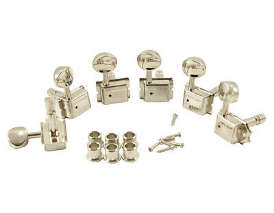 Kluson Traditional 6 in line Oval Metal Btn Nickel Locking Tuner SD9105MN DR/L ()