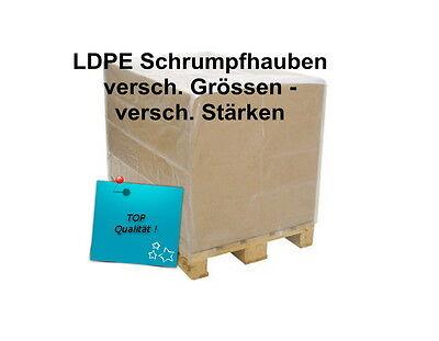 PE Schrumpfhaube Abdeckhaube für Paletten 1250+850x1800mm ,125my * 30 Stück