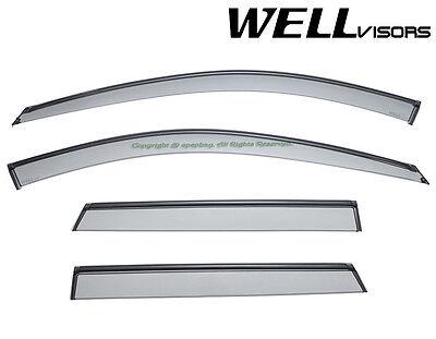 Fit 06-13 Audi A3 Hatch WellVisors Smoke Black Trim Window Visors Rain Guard