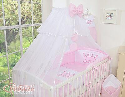 Babybett Weiß Bettset Little Prince Pinz Princess Kleine Prinzessin Krone.Top