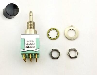 Alcoswitch Mpa306d 3pdt On-on Mini Push Button Switch 6a125v 4a28v Dc
