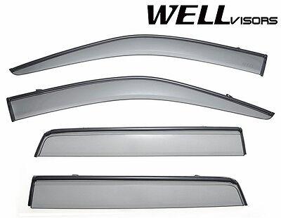 WellVisors Side Window Visors Deflectors W/ Black Trim For 07-15 Land Rover LR2