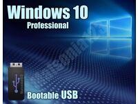 Windows 10 Pro Professional 32bit and 64bit Bootable USB Flash Drive