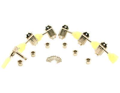Kluson Traditional 3x3 Pearloid Double Ring Single Line Nickel SD90SLN DR
