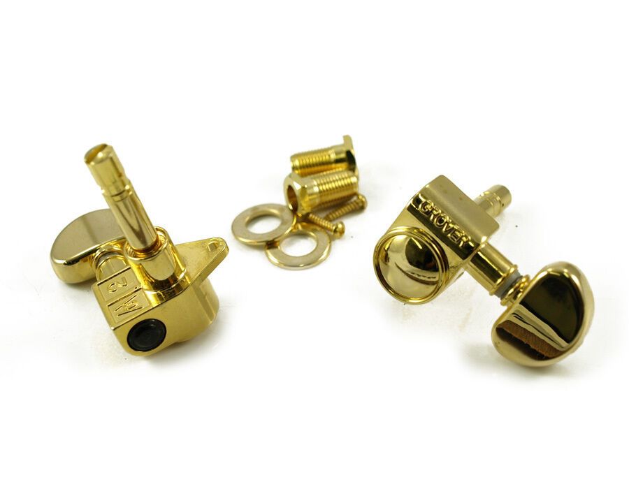 new grover rotomatic gold 3x3 locking tuners 18 1 gear ratio top locking 106g ebay. Black Bedroom Furniture Sets. Home Design Ideas