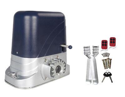 Schiebetorantrieb Tor Antrieb 2 Sender, Rolltor Hoftor max. 600 Kg Torgewicht