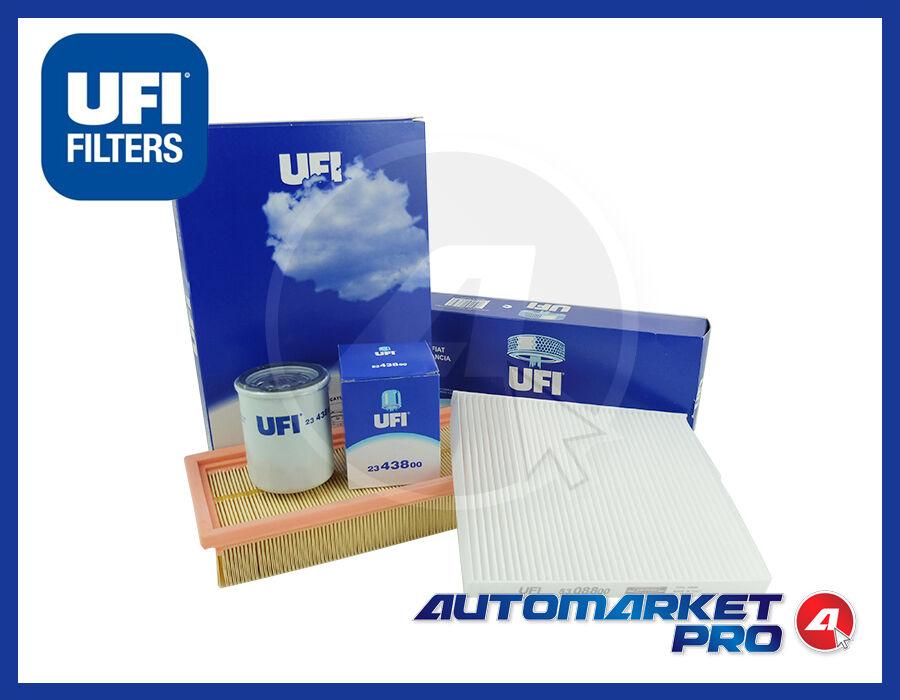 KIT 3 FILTRI UFI FILTERS FIAT PANDA (169) 1.2 1200 BENZINA NATURAL POWER