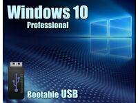 Windows Win 10 Pro 64bit UK Re-Install Repair Restore Recovery Boot USB Drive