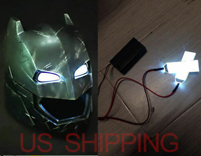 DIY 1:1 Led Light Eyes For Batman Ironman Black Panther Helmet  Eye Mask Fitting