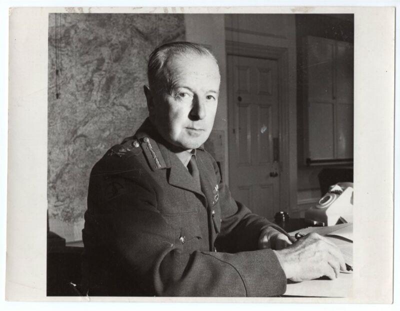 WW2 British General Frederick Pile Anti-Aircraft Command 8x6 Original News Photo