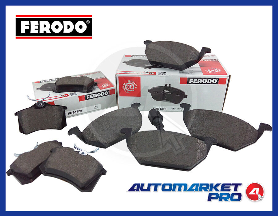 KIT PASTIGLIE FRENO ANT + POST FERODO VW POLO 1.4 1400 TDI DIESEL PATTINI FERODI