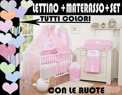 LETTINO BIMBO CULLA NEONATO+set 7 pezzi tutto completo offerta prezzo piu basso