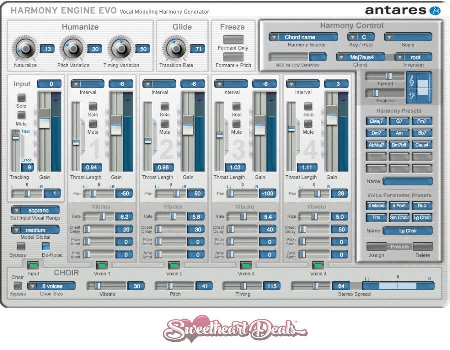 Details about Antares Harmony Engine EVO - Download - Vocal Modeling Plugin  Software VST