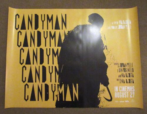 Candyman ORIGINAL UK quad poster 2021 Yellow version Jordan Peele Tony Todd
