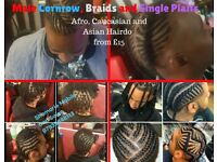 Cornrow, Braids and Single plaits for Men/boys and Women/girls from £15 , Mobile hairdressing, afro