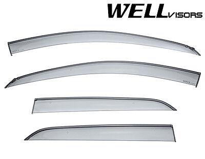 WellVisors For 15-UP Chevrolet Trax BLACK Trim Side Window Visors Rain Deflector