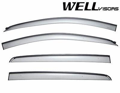 WellVisors BLACK Trim Window Visors For 12-Up Chevrolet Sonic Hatchback