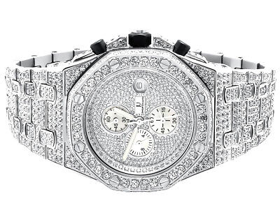 Iced Mens Jewelry Unlimited Jojino Joe Rodeo Lab Diamond Chronograph Watch 43MM