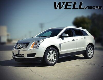 WellVisors CHROME TRIM Side Window Visors Rain Deflector For 10-16 Cadillac SRX