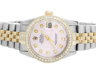 Rolex Datejust 2 Tone 78273 18k Gold 31MM Stainless Steel Jubilee Diamond Watch