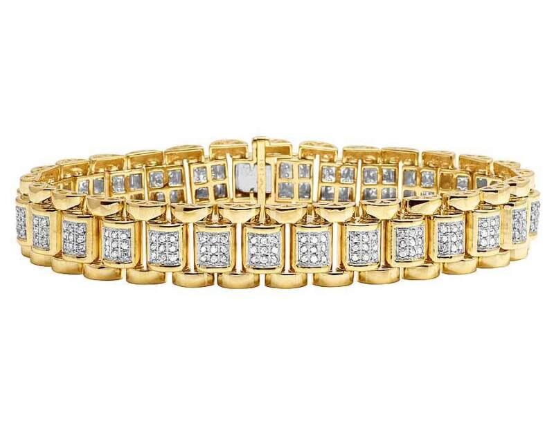10k Yellow Gold Genuine Diamond Men
