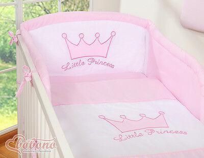 Bobono 2tlg Babybettwäsche Bettgarnitur Krone Princess Prince Bezug 100x135 Neu