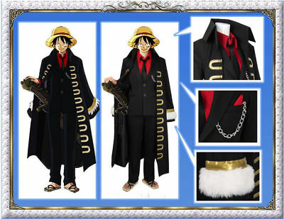 One Piece Strong World Monkey D. Luffy Full Set Cosplay Costume Halloween](One Piece Luffy Halloween Costume)