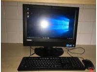 Lenovo ThinkCentre IBM AIO all in one Desktop PC Computer Widescreen Webcam WiFi Windows 10