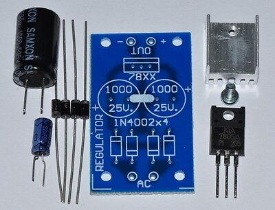 Unassembled Kit 5v 1a Ac-dc Regulator Power Supply Save Price 12-24vac