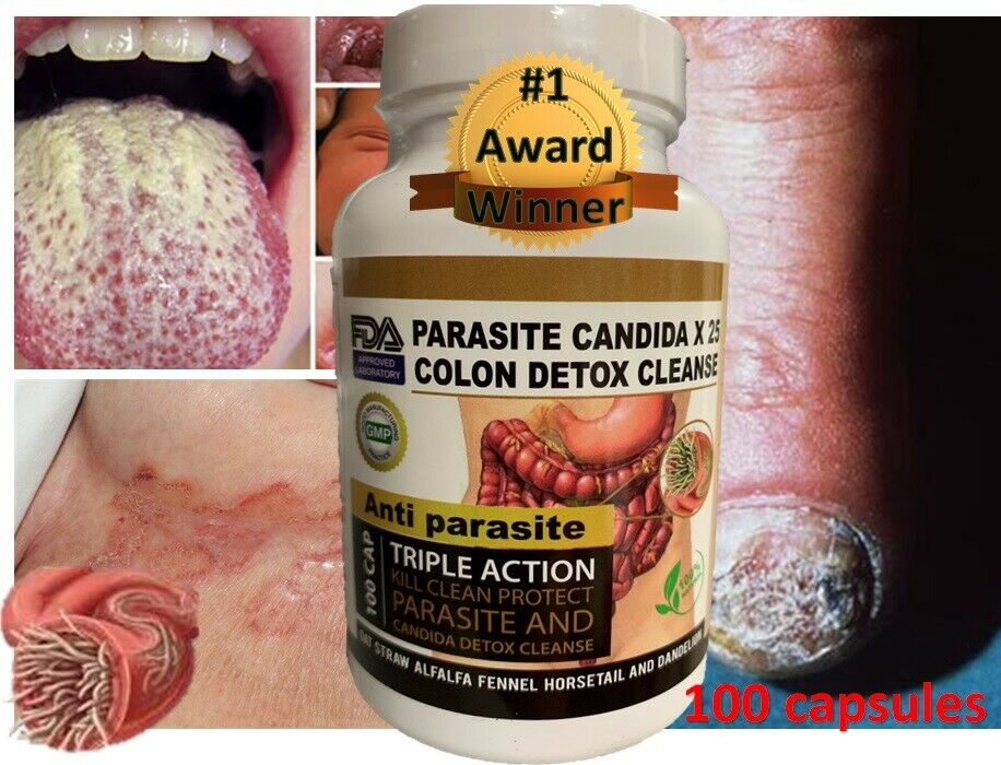 Intestinal Parasite Cleanse Detox Dietary Capsules Supports Digestion Free Ship  1