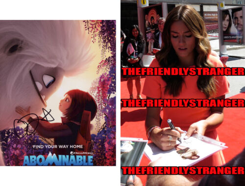 """CHLOE BENNET signed Autographed """"ABOMINABLE"""" 8X10 PHOTO A - PROOF - Yi COA"""