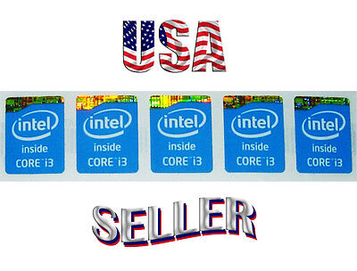 5pc Intel Core i3 4th 5th Gen Haswell / Broadwell Best Quality Decals