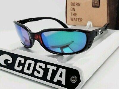 580G - COSTA DEL MAR tortoise/green mirror BRINE POLARIZED sunglasses NEW IN (Costa Del Mar Brine Sunglasses)