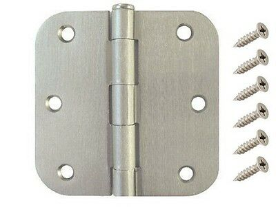 "30 Pack 3.5"" Satin Nickel Interior Door Hinges with 5/8"" Radius DH3558 Hinge"
