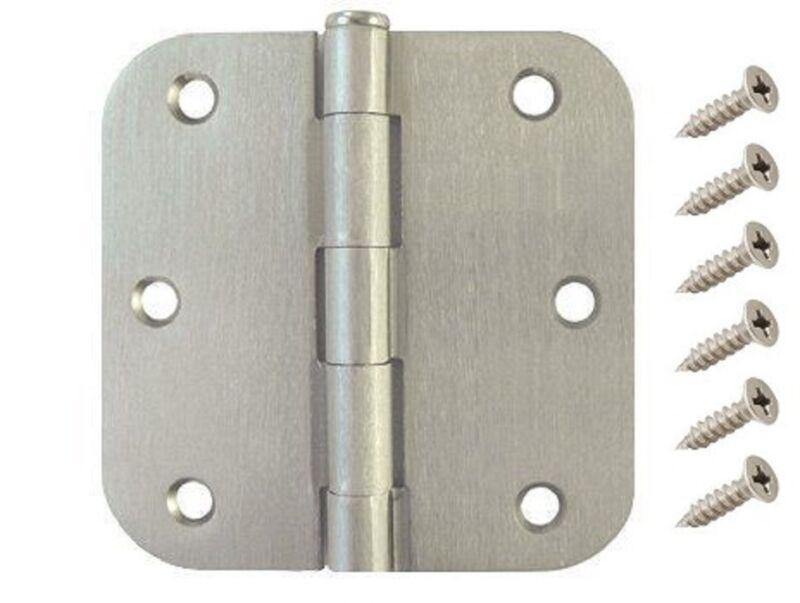 "25 Pack 3.5"" Satin Nickel Interior Door Hinges with 5/8"" Radius DH3558 Hinge"