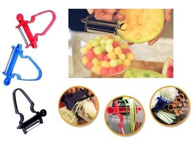 Hot Magic 3pcs Peeler Set Trio Peeler Slicer Shredder julienne Fruit Cutter DD