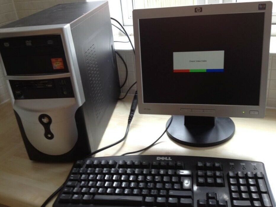 PC computer comes with HP monitor & Dell keyboard  | in Llanedeyrn, Cardiff  | Gumtree