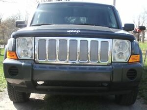 CHROME MESH GRILLE GRILL KIT For JEEP COMMANDER 05 06 07 08 09 10