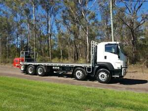 2019 Isuzu FYJ ,auto , 8x4, 8mtr tray and New Loadmac forklift Freemans Reach Hawkesbury Area Preview