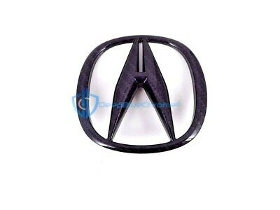 Acura TSX 2009-2014 Black Carbon Fiber Emblem Rear Trunk Logo Badge Genuine OEM