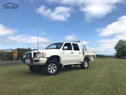 2002 Toyota Hilux Ute 4X4 SR5 Dual Cab Steel Tray UTE for SALE
