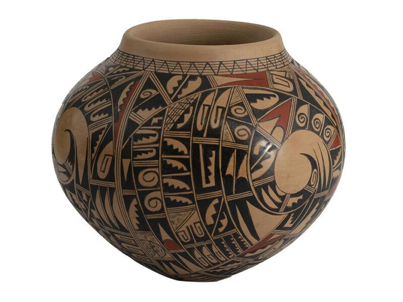 Large Sikyatki Vase by the Exceptionally Skilled Hopi Potter Antoinette Honie