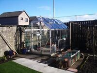 Aluminium Greenhouse for sale. Size 10ft x 6ft. Good condition. Buyer to dismantle
